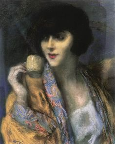 Woman with a Chinese Cup - Jozsef Rippl-Ronai peintre hongrois impressionnisme Contemporary Artists, Modern Art, 1920 Women, Avant Garde Artists, Roman, Portraits, Portrait Art, Portrait Photography, Tea Art