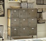 Arden Lockers. A mud room with a little vintage charm that does the job of organizing everyone's things. $699 at #potterybarn