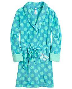 Polka Dot Fleece Robe