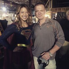 With her dialect coach Melissa Benoist Hot, Melissa Marie Benoist, Cw Dc, Anthony Joshua, Drama Series, The Cw, Supergirl, American Actress, Superman