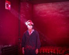 Contemporary Issues runner-up: A worker at a Christmas decoration factory, in China