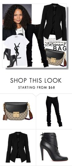 """""""Arm Candy: Statement Bag"""" by teah507 ❤ liked on Polyvore featuring Gucci, Replay, Yves Saint Laurent, Topshop, Christian Louboutin and statementbags"""