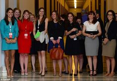 Anticipation: Female staffers excitedly gathered on Capitol Hill for a glimpse of the British prince  Read more: http://www.dailymail.co.uk/news/article-2322162/Hello-ladies-Britains-eligible-bachelor-Prince-Harry-arrives-U-S-week-long-tour.html#ixzz2Spc0o3ZZ  Follow us: @MailOnline on Twitter | DailyMail on Facebook