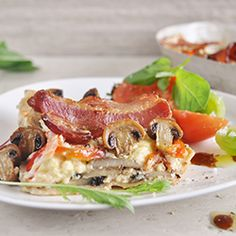 Mushroom and bacon crustless quiche