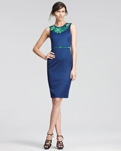 Embroidered Gabardine Dress by Jason Wu at Bergdorf Goodman.