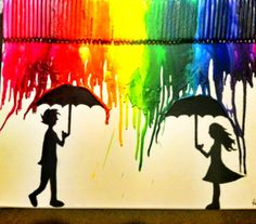 Crayon art! Perfection wall art!