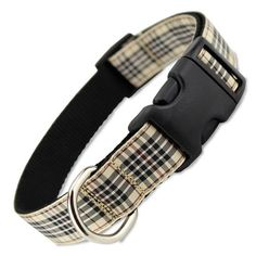 A designer dog collar look without the designer price, you'll love our burberry inspired London Blackberry Tartan Dog Collar.