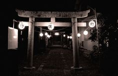 Festivl night of the Shinto shrine