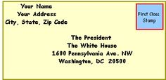 Write a letter to the President. Good for Presidents Day :)
