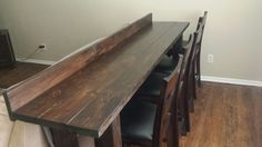 Bar behind couch