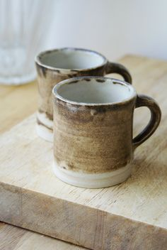 Set of two hand thrown espresso cups | Try Handmade Gallery | Free Handmade Advertising
