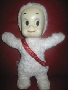 Casper the Friendly Ghost My true childhood love ! Carried him everywhere !