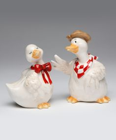 Look at this Duck Salt & Pepper Shakers on #zulily today!