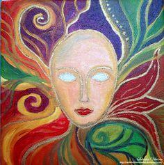 Inner clown by me oil, canvas christmas gift for family   Narbelethwererabbit.deviantart.com on @deviantART