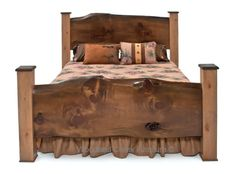 Sophisticated Cabin or Cottage Bed by Woodland Creek