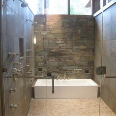 Seattle Home stone wall Design Ideas, Pictures, Remodel and Decor
