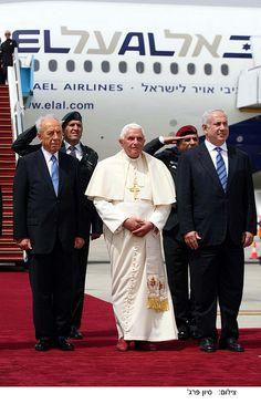 The Pope flying EL AL Benjamin Netanyahu, Tel Aviv, Airplane, Israel, Aviation, Celebs, Fashion, Plane, Celebrities