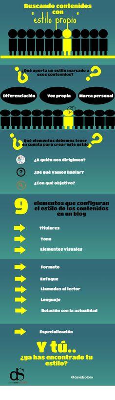 """Contenidos con """"estilo propio"""" #infografia #infographic #marketing   TICs y Formación"""