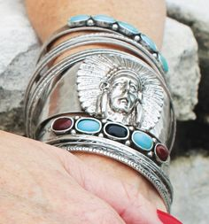 Indian Chief Cuff http://www.dumbblondeboutique.com/inchcu.html