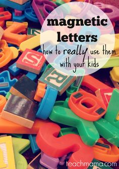 Check out these brilliant ideas on how to use magnetic letters with your kids to improve reading and spelling! There are SO many great ideas and activities! And these alphabet activities will have your children being bright learners in no time! Alphabet Activities, Literacy Activities, Educational Activities, Preschool Activities, Preschool Age, Literacy Centers, Kindergarten Literacy, Early Literacy, Early Learning