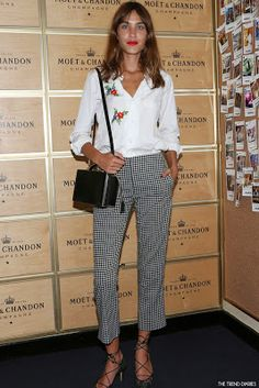 Alexa Chung at the Moet VIP suite