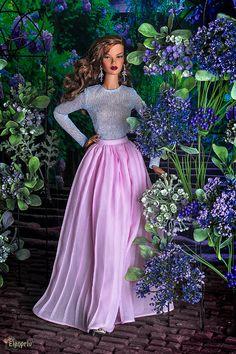 ELENPRIV light blue top for Fashion royalty FR16 and similar body size dolls by elenpriv on Etsy