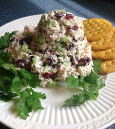 Chick salad, honey mustard, dried cranberries, poppy seeds