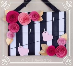 Bedroom Black And White Decor Kate Spade 28 Ideas Flores Shabby Chic, Shabby Chic Flowers, Kate Spade Party, Note Board, Gold Flowers, Paper Flowers, Memo Boards, Wedding Gifts, Wedding Decor