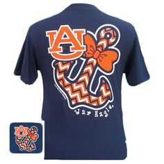 Auburn Tigers War Eagle Anchor Bow Bright T Shirt