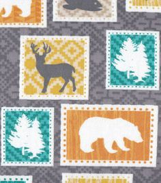 Snuggle Flannel Fabric Wilderness Patch