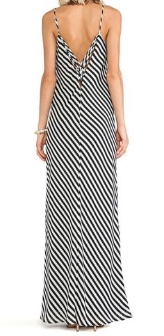 Taylor striped maxi dress