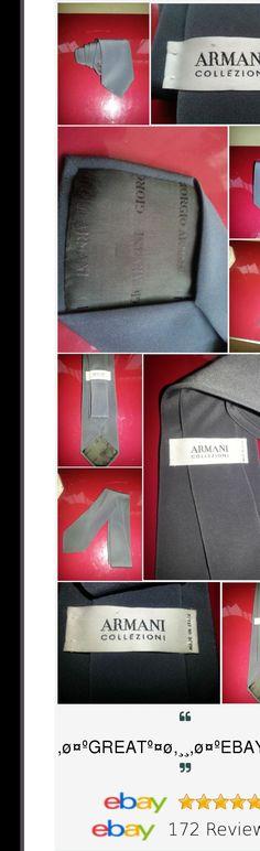 RRP 115 Mens GIORGIO ARMANI Grey Tie BNWOT. BIG WEEKEND SALE : 10pound Off Every 50 pound item you buy