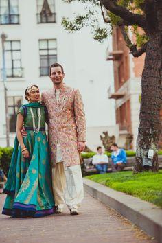 indian wedding outfits (rohit bal dress & custom made achkin)