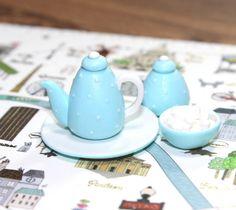Tea with Sugar 1:12 Handmade Dollhouse Miniature Food (polymer clay) #Handmade
