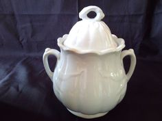 W & E Corn Ironstone Sugar Bowl with Lid by BellaChicDecor on Etsy, $39.00