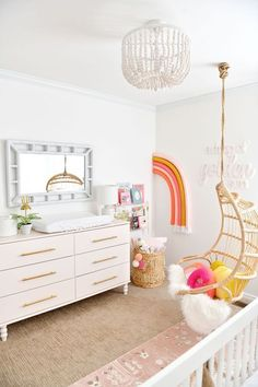 I love these modern boho neutral nursery looks! The boho neutral nursery look is totally in now with neutral colors that are also gender neutral. If you are looking to create a boho baby room, have a neutral baby room design for your home, then click through to see all the boho nursery decor for boys and girls and get ideasl for your neutral nursery decor! #neutralnursery #bohonursery #neutralbabyroom #bohobabyroom Ikea Tarva Dresser, Pink Dresser, Nursery Room, Themed Nursery, Girl Nursery, Boho Nursery, Baby Room, Rainbow Nursery Decor, Nursery Dresser