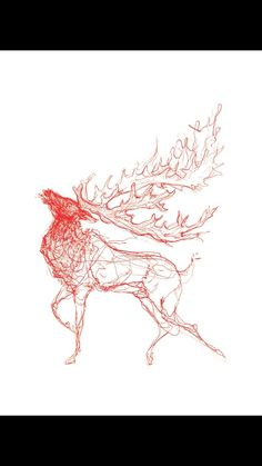 The Stag (red) £25.00