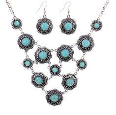 Twelve Suns Turquoise Necklace & Earring Set