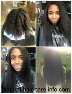 Long natural hair <3 All smoothed out for her birthday!