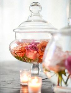 For a simple centerpiece with a huge effect, create the Exquisitely Romantic Floating Roses Centerpiece.