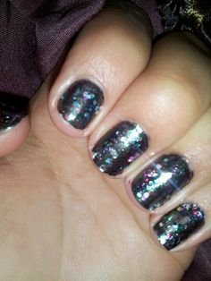 New years type nails