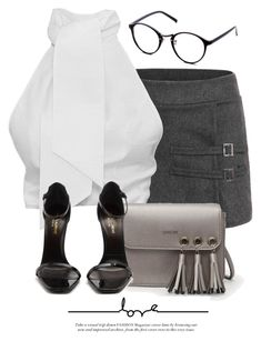"""15:39"" by monmondefou ❤ liked on Polyvore featuring Yves Saint Laurent"