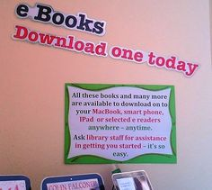 By Barbara Plum       Thanks for this display Barbara. It's a really good idea to promote an eBook collection by display, they ca...