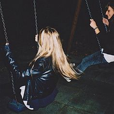 Swung from the swing set in a park at 12 am