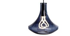 Plume Pendant Lamp and Plumen 001 Bulb, Smoke Blue | made.com