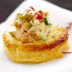 Canapes Recipes gruyere and crab