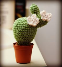 DIY oh my oh my: crocheted cactus
