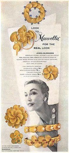 Publicité Vintage - Marvella - Bijoux Fantaisie - 1956