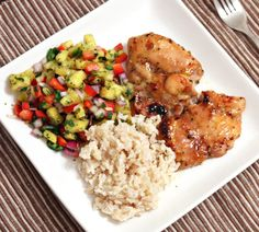 Pineapple-Glazed Chicken with Jalapeño Salsa