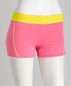 Take a look at this Neon Pink Compression Shorts by HEAD on #zulily today!
